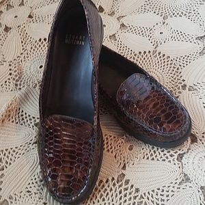 Weitzman snakeskin comfy loafers...beautiful!